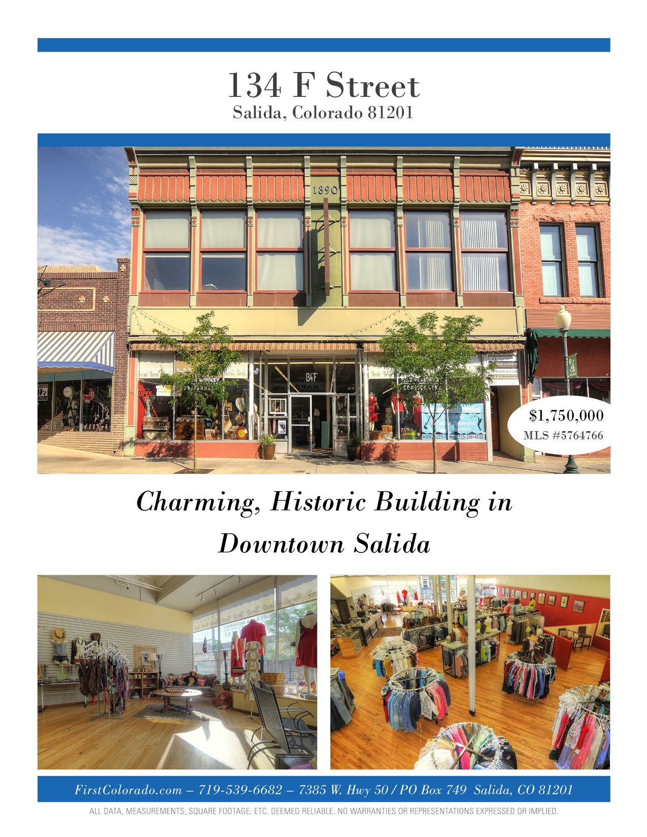 Charming, historic building in downtown Salida, CO!